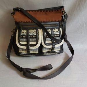 the SAK Purse Shoulder Hand Bag Leather Large